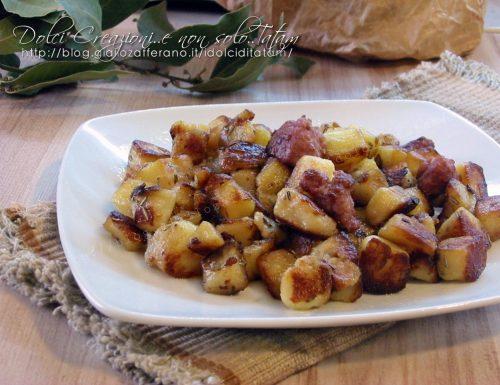 Patate croccanti in padella, ricetta contorno
