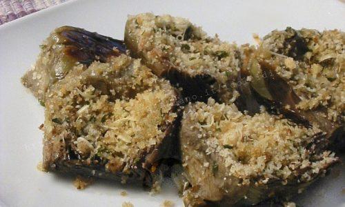 Carciofi gratinati al forno, ricetta vegetariana