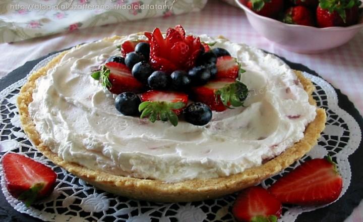 Cheesecake alle fragole, senza cottura e senza colla di pesce