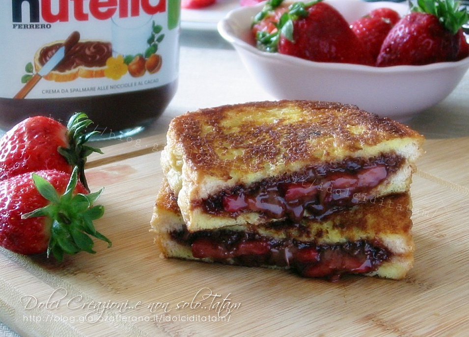 French toast fragole e nutella