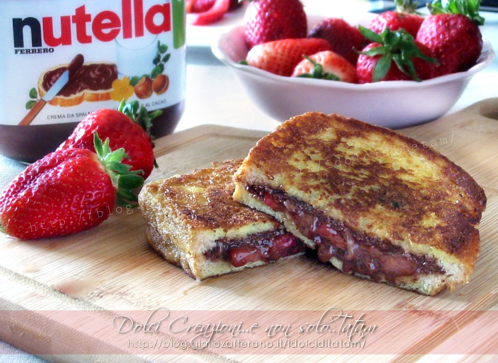 French toast fragole e nutella1