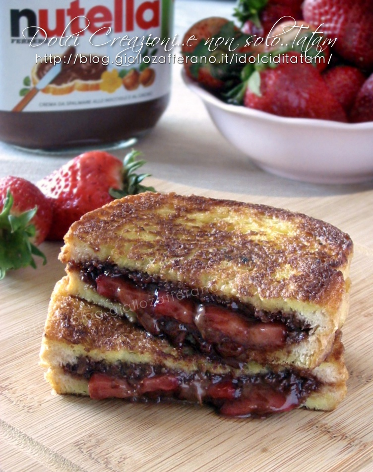 French toast fragole e nutella3