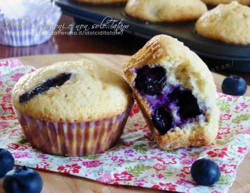 Muffin morbidissimi ai mirtilli senza burro
