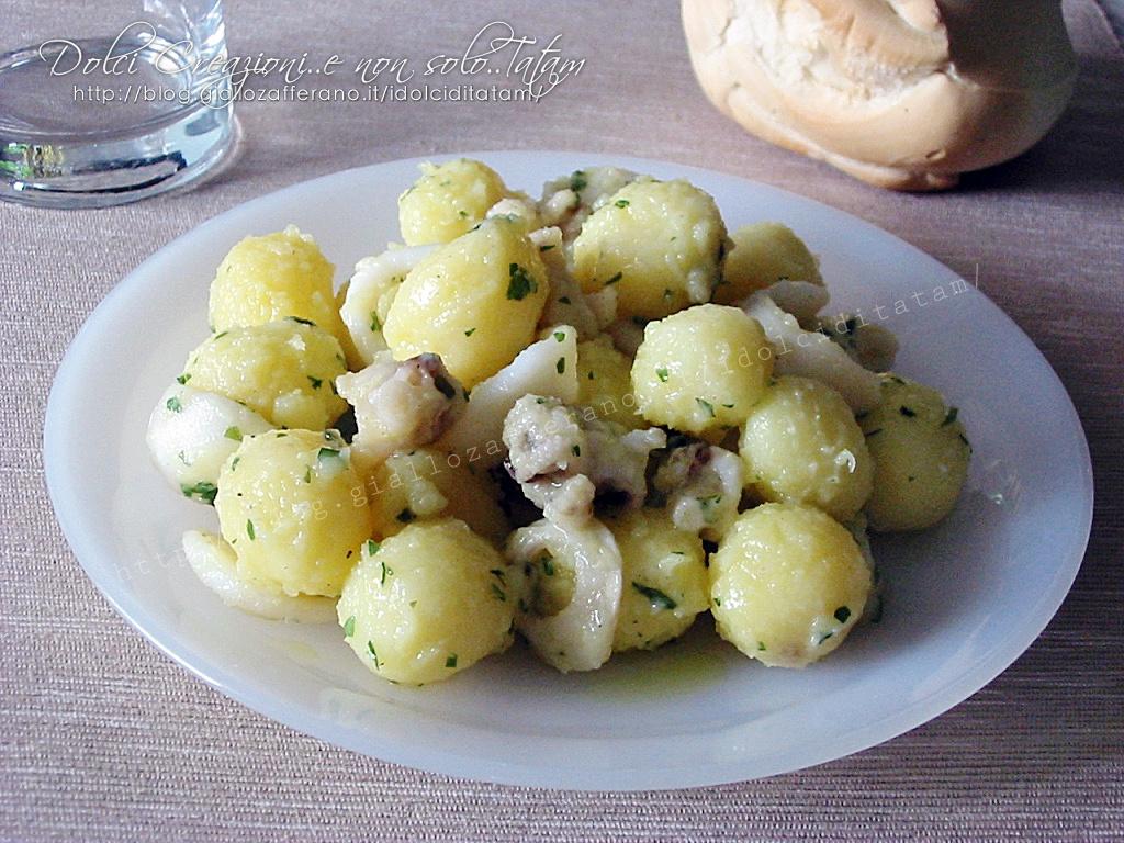 Seppie con patate in insalata