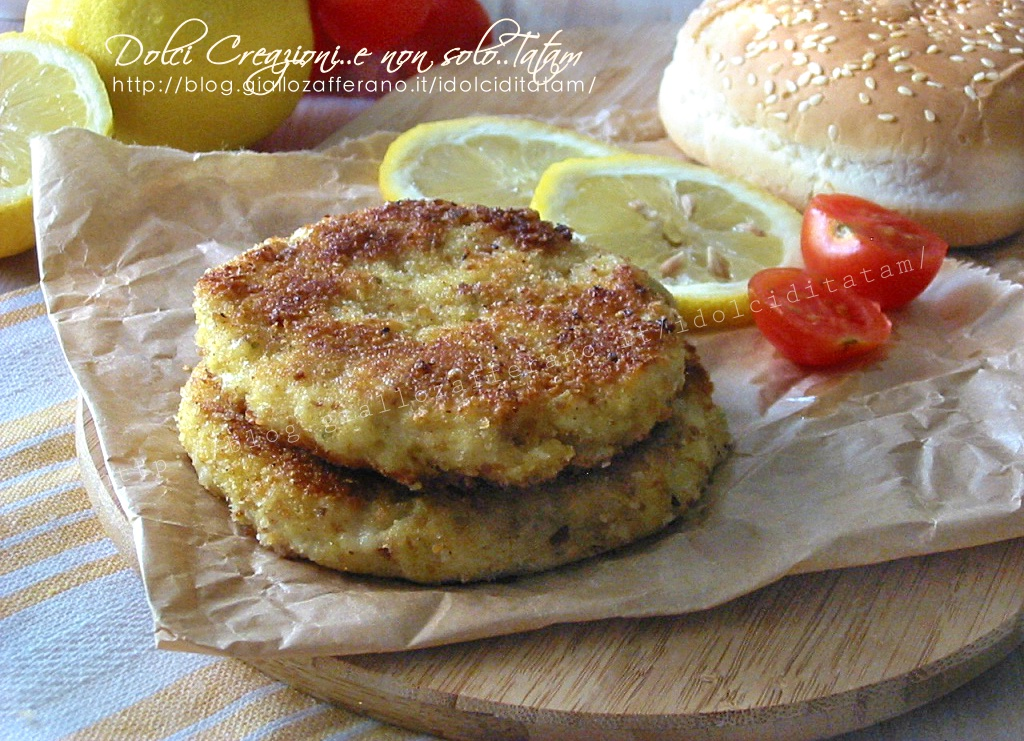 Burger Di Pesce Fritto Con Doppia Impanatura Anche Al Forno