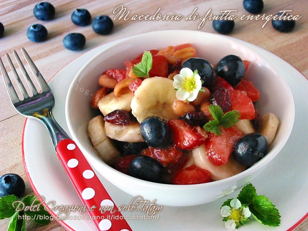 Macedonia di frutta energetica