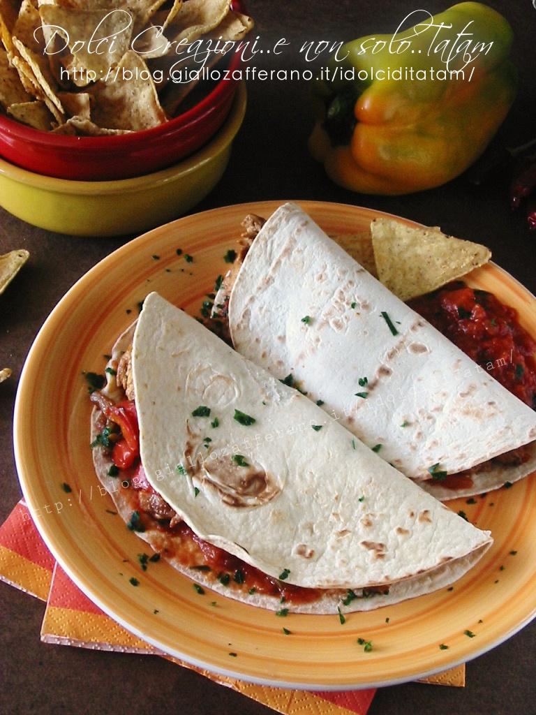Fajitas di pollo e tortillas1