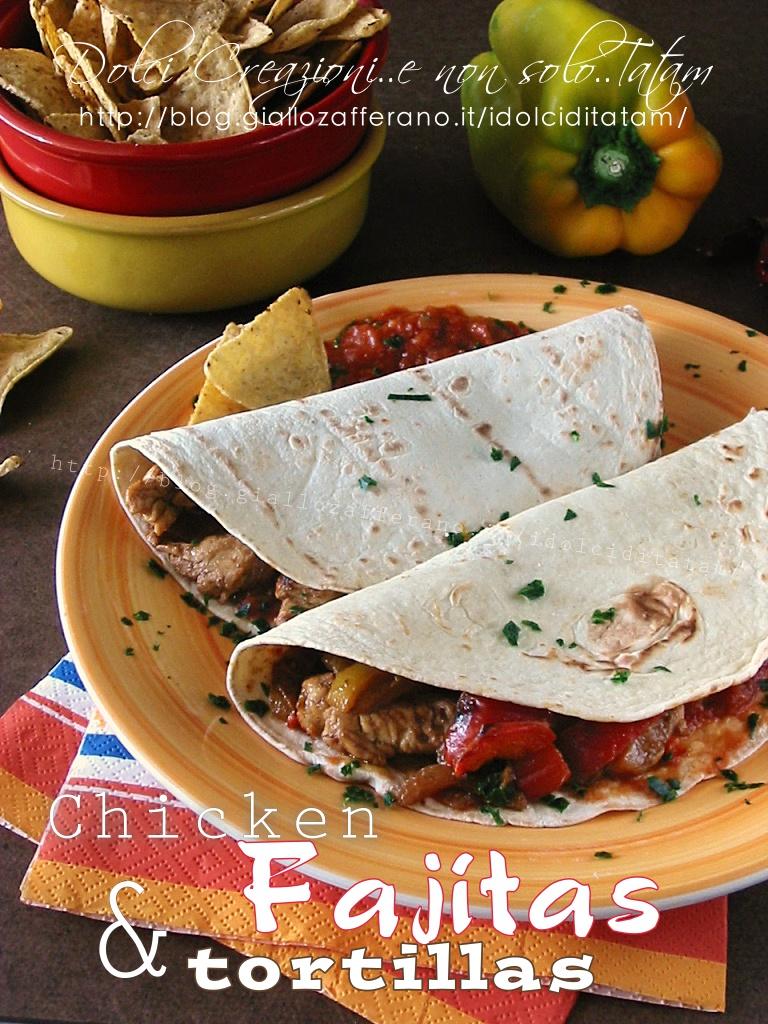 Fajitas di pollo e tortillas2