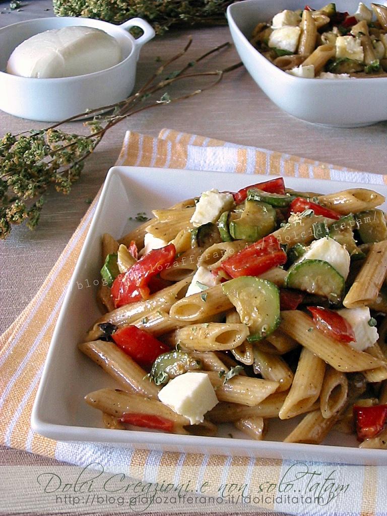 Pasta fredda tricolore con zucchine