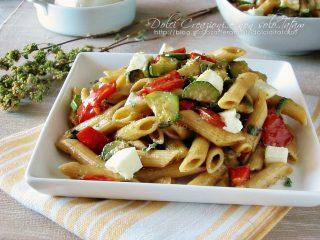 Pasta fredda tricolore con zucchine1