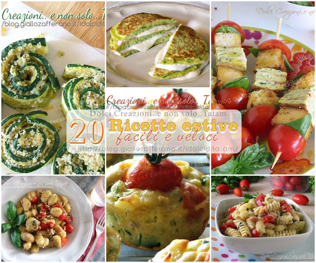 20 ricette estive salate facili e veloci 3 ricette dolci
