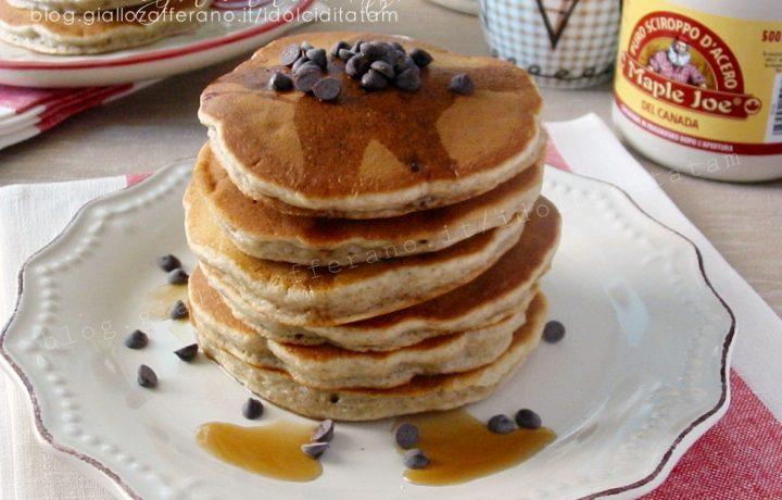 Ricetta Pancakes integrali alla banana e gocce di cioccolato