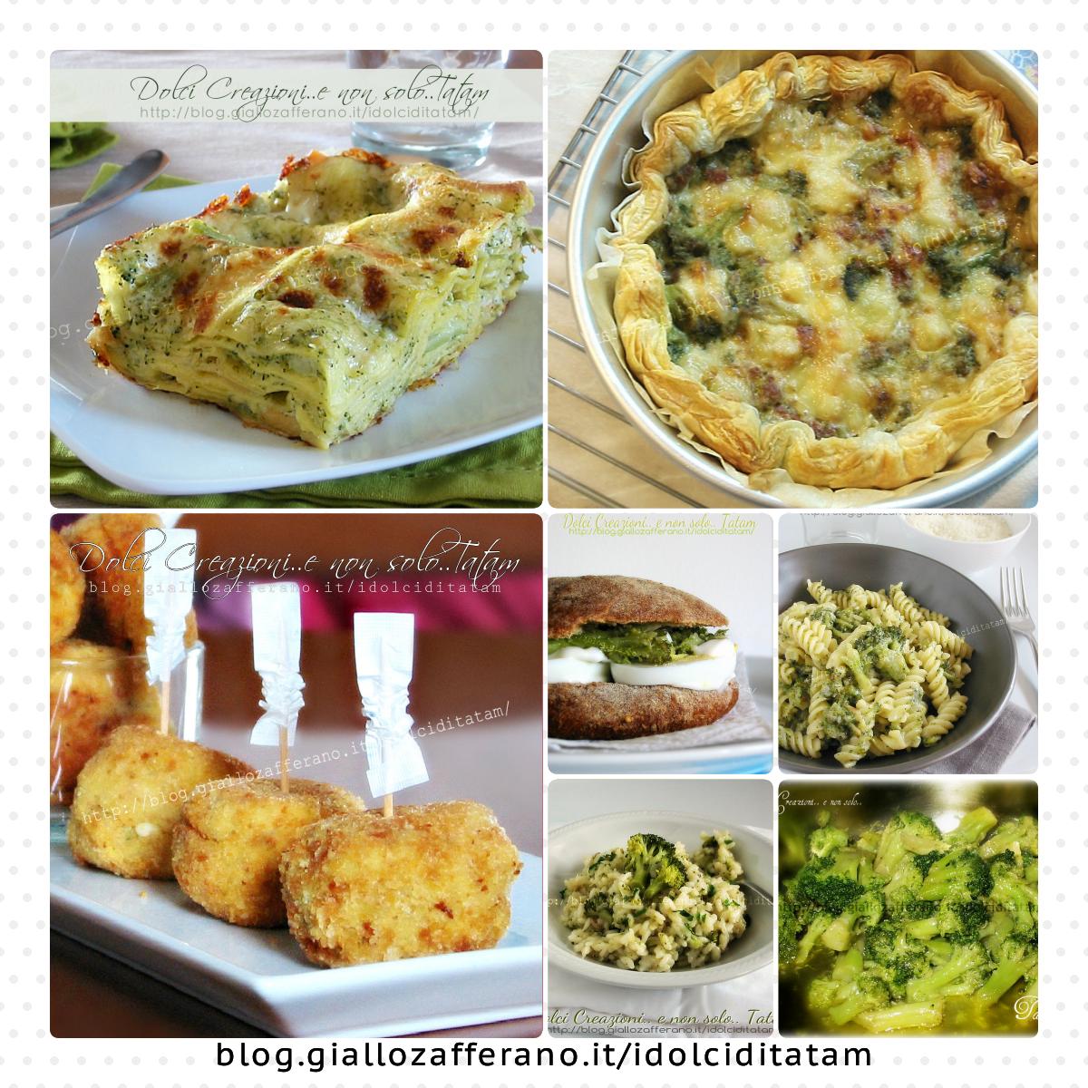 ricette con i broccoli collage