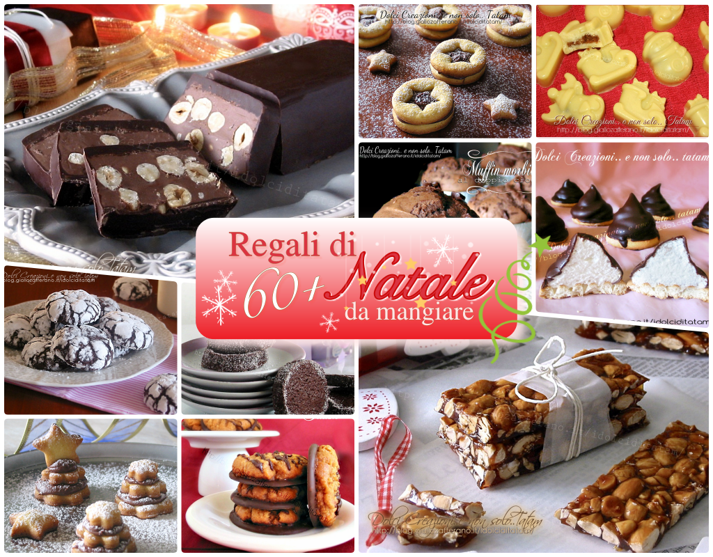 Regali di Natale da mangiare, raccolta di più di 60 ricette dolci da regalare