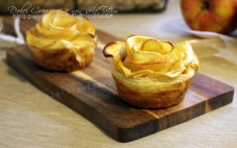 Rose di mele in sfoglia, ricetta facile con video tutorial