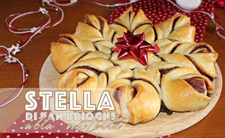 Torta stella di pan brioche alla nutella, per le feste -Video ricetta