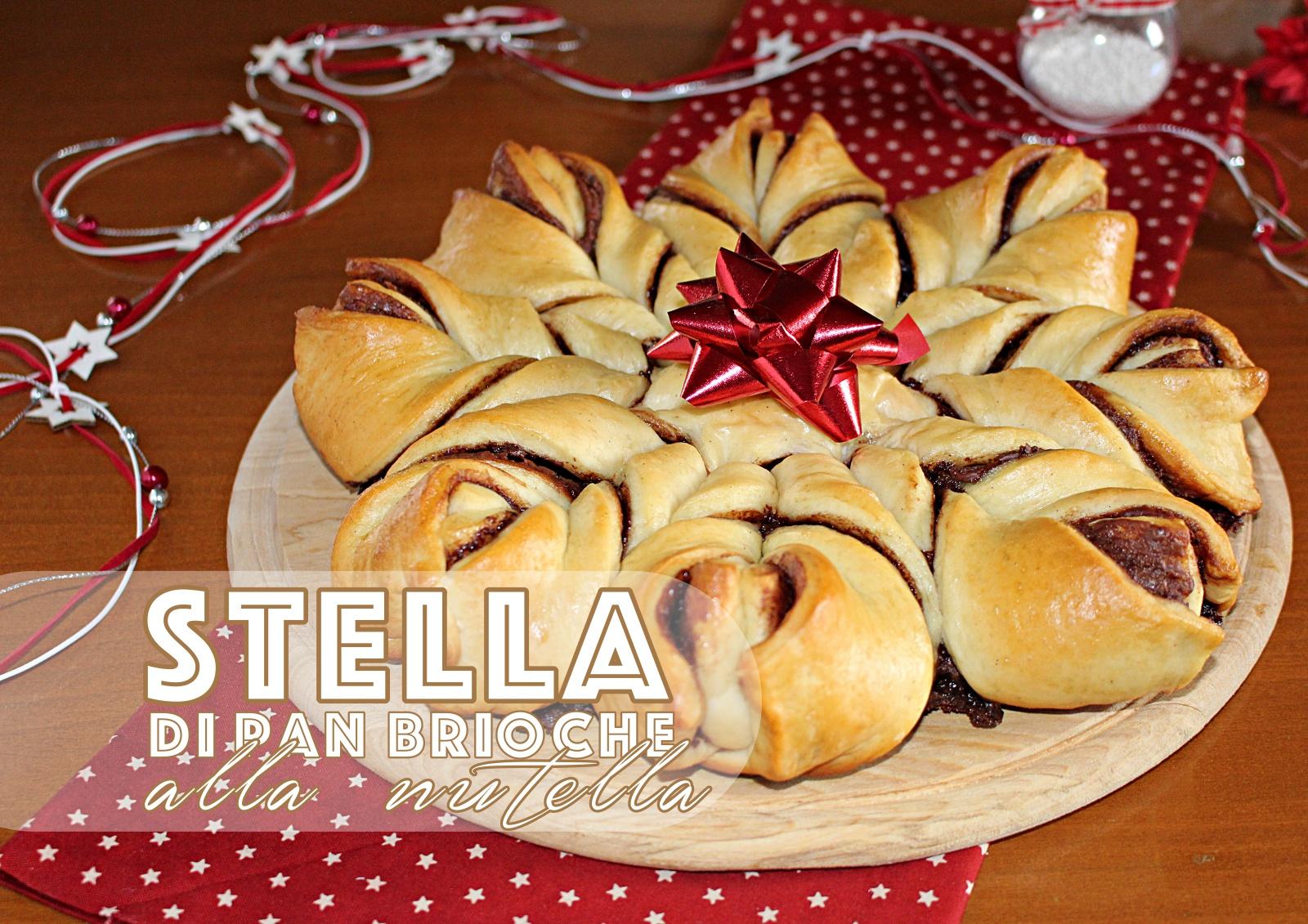 Torta stella di pan brioche alla nutella, per le feste di Natale