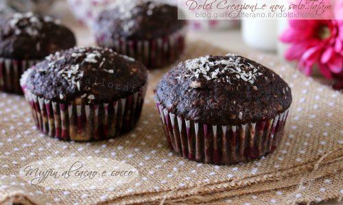 Ricetta Muffin al cacao e cocco, facile e pronta in pochi minuti