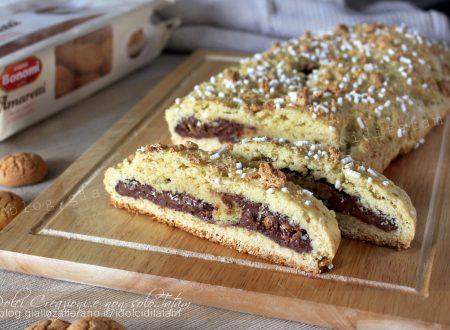 Ciambellone rustico marchigiano con nutella e amaretti