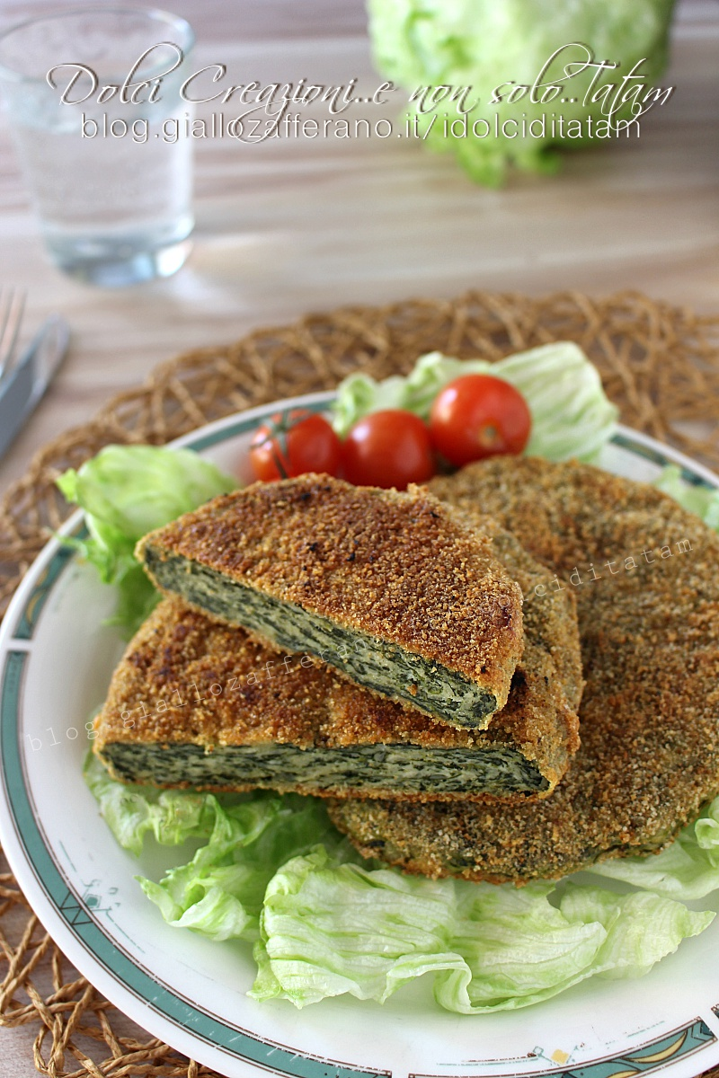 Cotolette di pollo e spinaci al forno