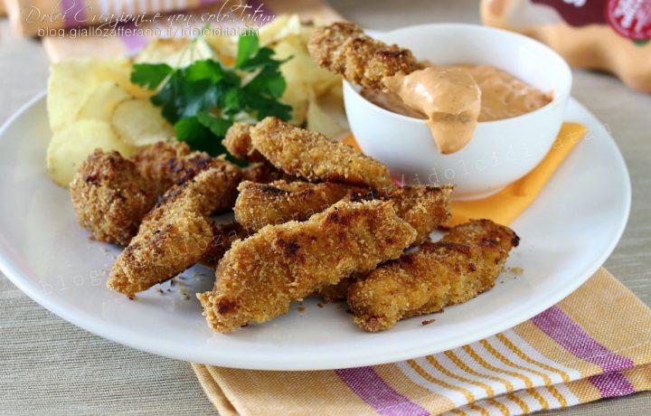 Bocconcini di petto di pollo al forno croccanti