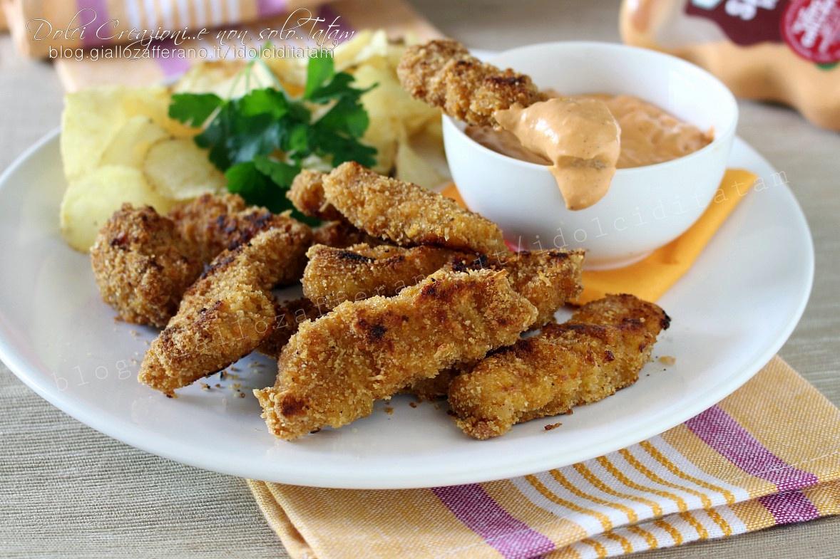 Bocconcini di petto di pollo al forno