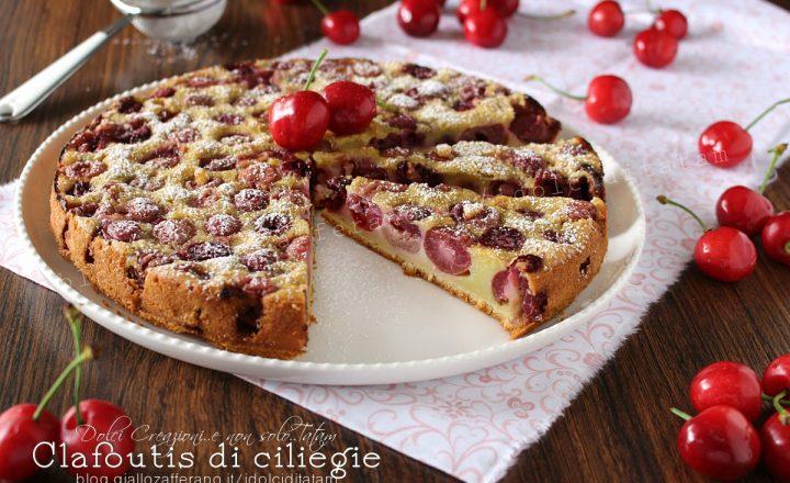 Clafoutis di ciliegie fresche, torta di ciliegie senza lievito