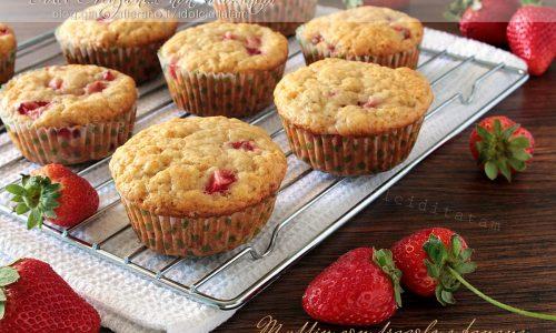 Ricetta Muffin con fragole e banane, video ricetta