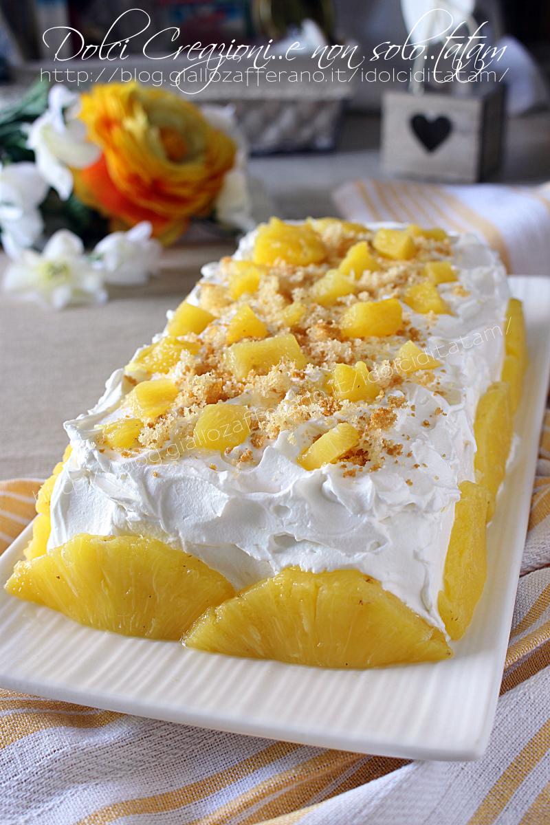 Torta gelato con ananas