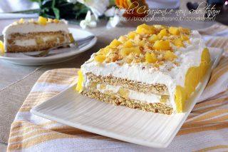 Dolci facili per ferragosto Torta gelato con ananas
