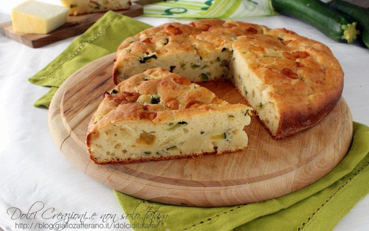 Torta salata di zucchine e formaggi