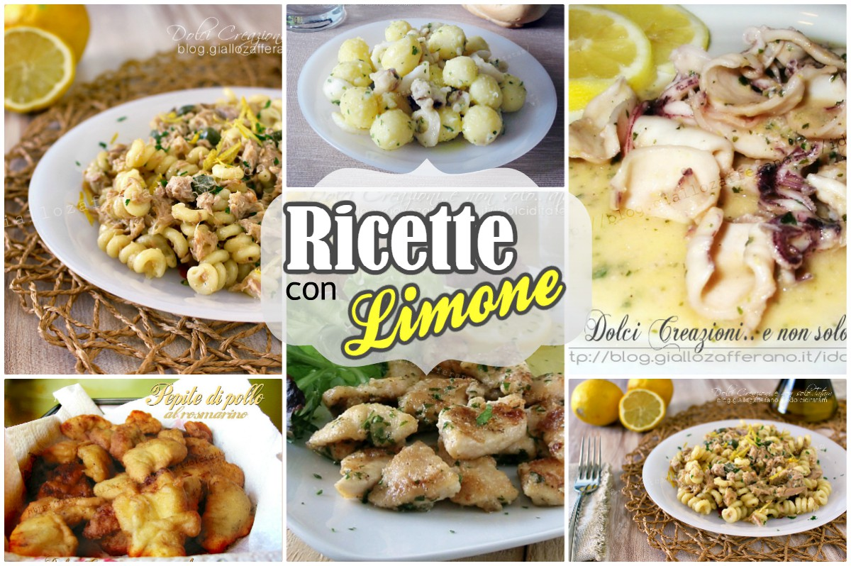 Ricette salate con il limone