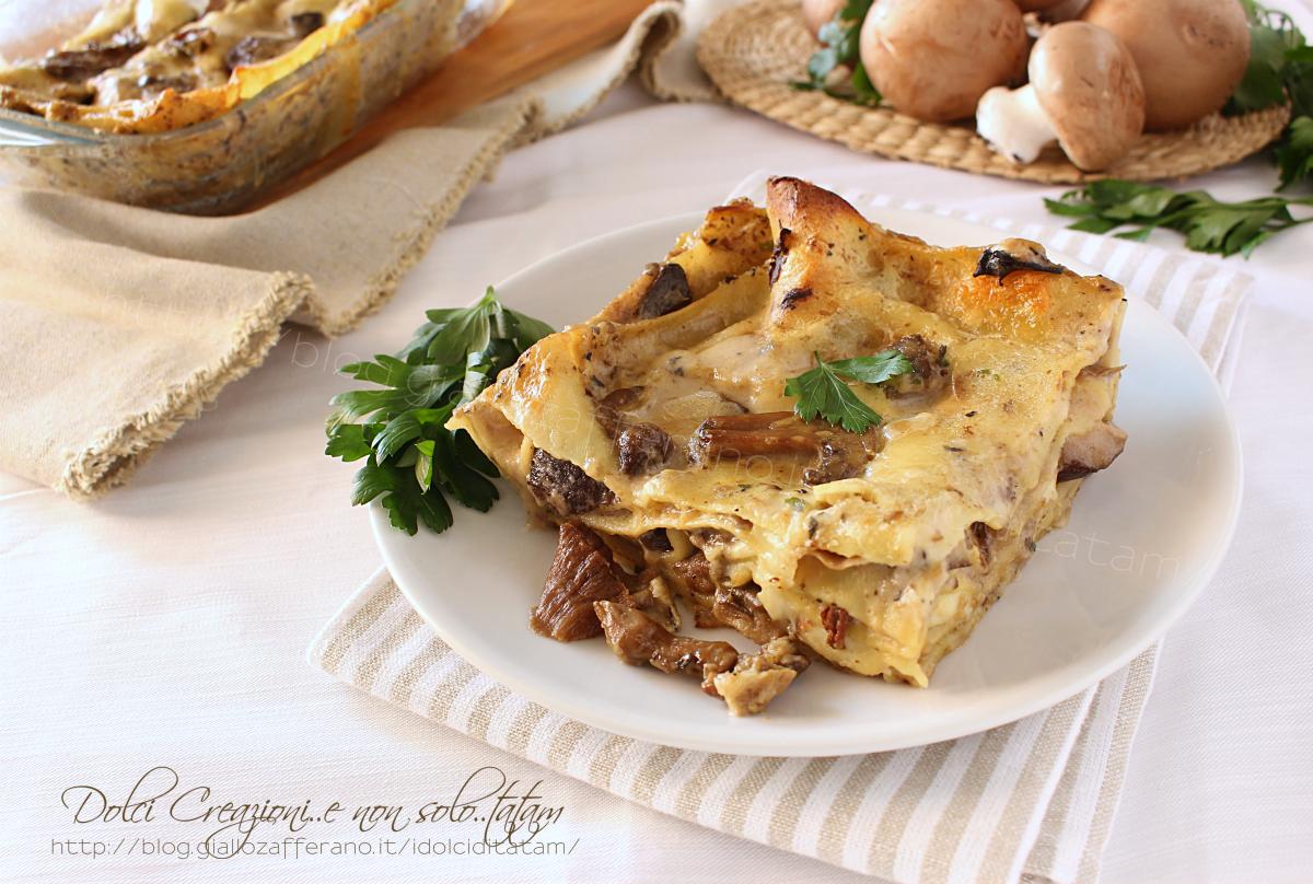 Ricetta Lasagne ai funghi misti e mozzarella