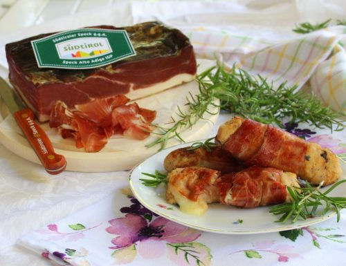 Rotolini sfiziosi allo speck e gorgonzola