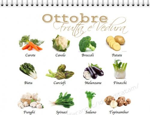 Verdura e frutta di stagione di Ottobre, la spesa giusta