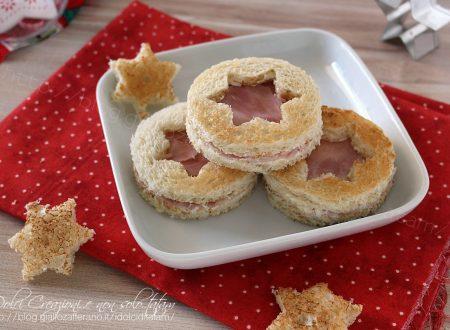 Sandwich croccanti al prosciutto e formaggio, antipasto di Natale. Video ricetta