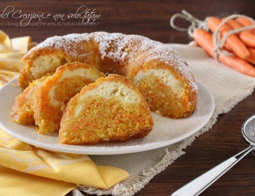 Torta alle carote farcita con crema di ricotta