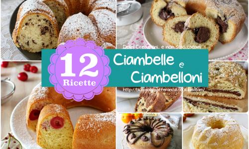 Ricette per dolci Ciambelle e Ciambelloni, raccolta di 12 dolci per la colazione