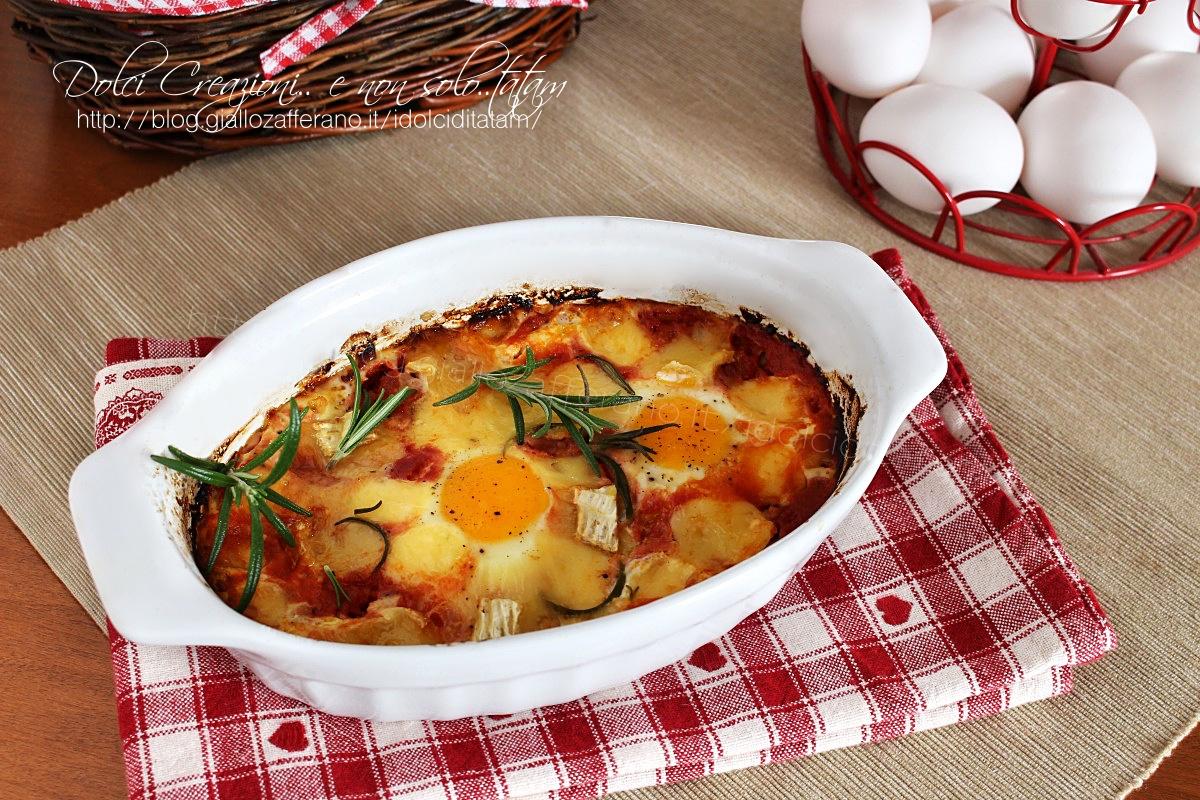 Uova al pomodoro al forno
