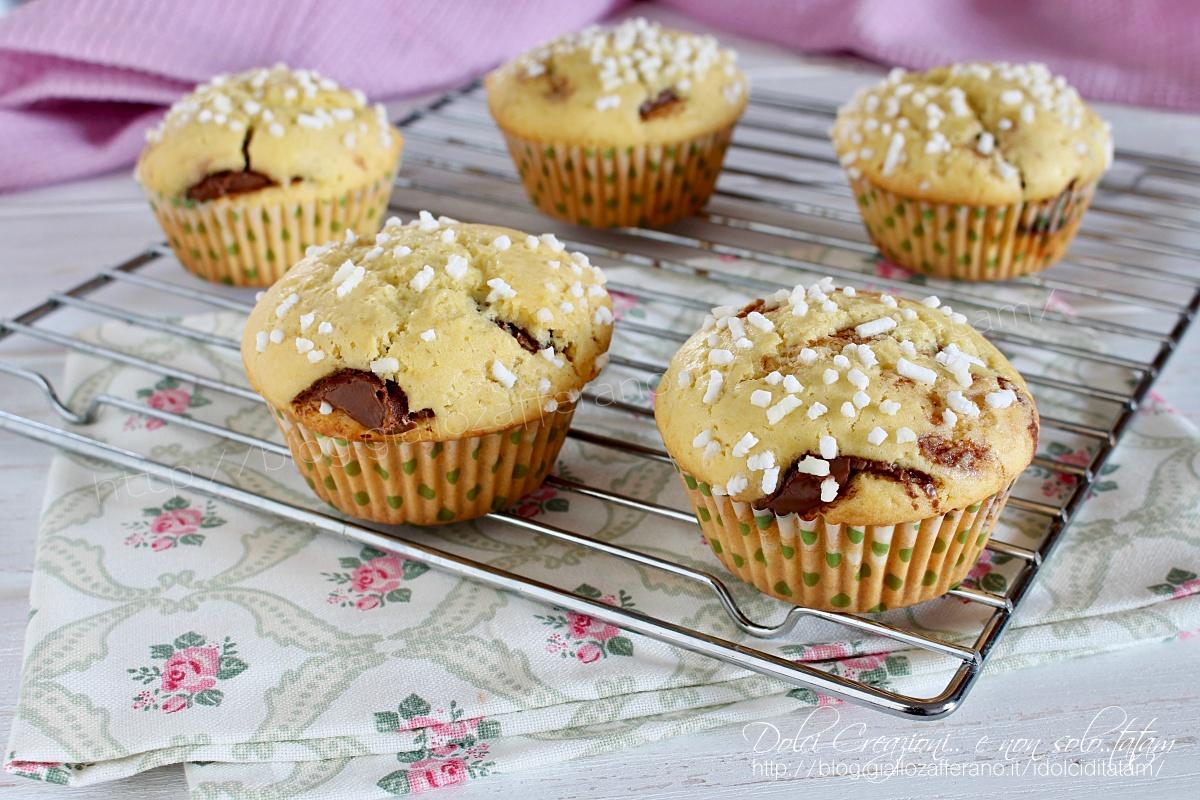 Muffin di frolla alla nutella