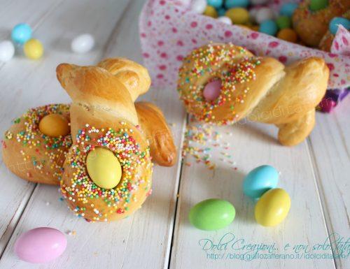 Segnaposto pasquali Coniglietti di Pasqua di pan brioche dolce