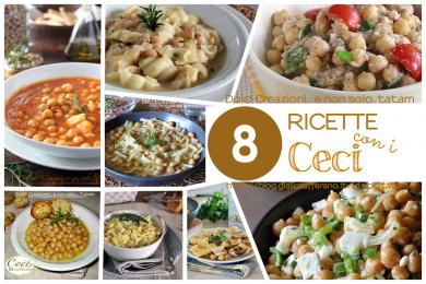 RICETTE CON I CECI, raccolta di 8 piatti facili e gustosi.