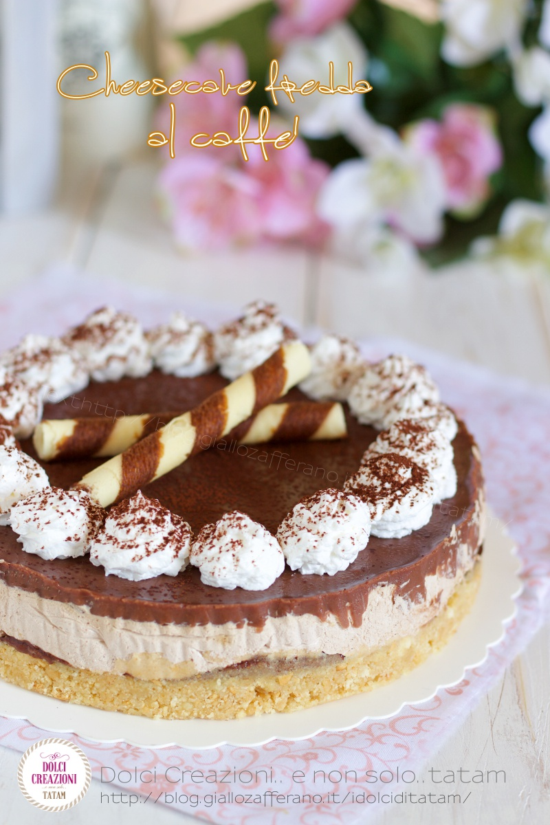 Cheesecake fredda al caffe' e cioccolato