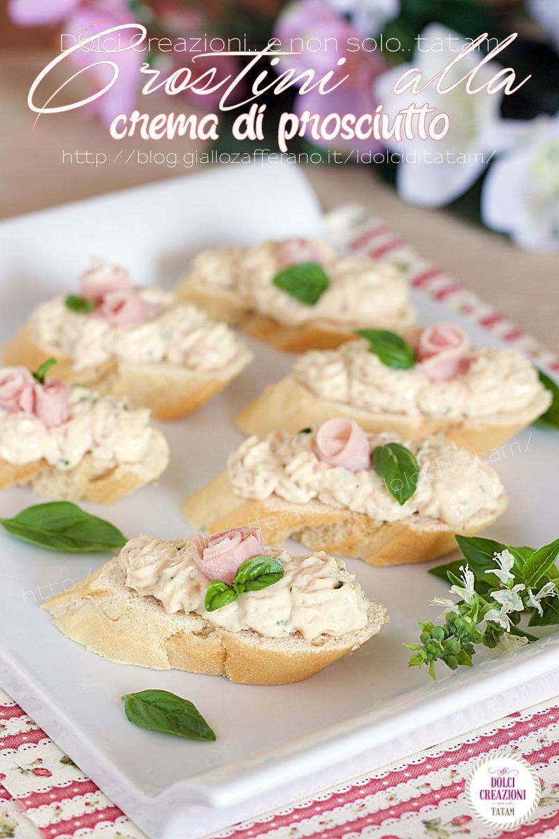 Crostini alla crema di prosciutto