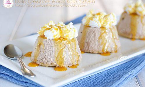 Dessert Semifreddo al caffe', senza uova e senza colla di pesce