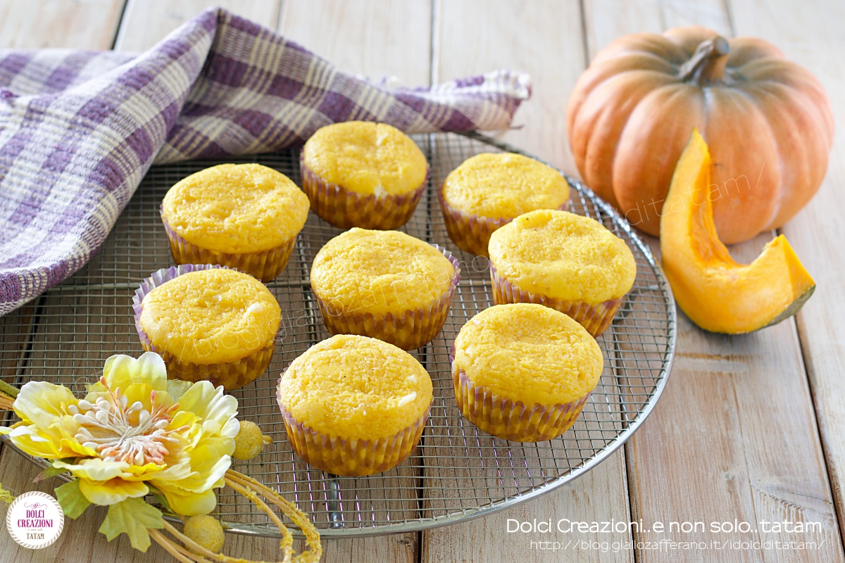 Muffin alla zucca senza burro