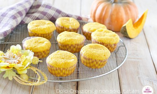 Muffin alla zucca senza burro, dal cuore cremoso