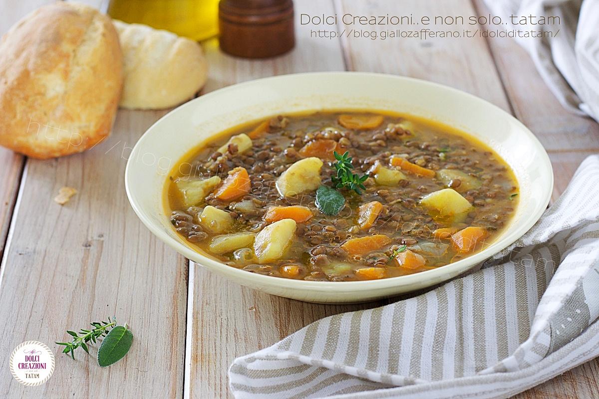 Zuppa Di Lenticchie E Patate Facile E Veloce Ricetta Vegetariana E Vegana