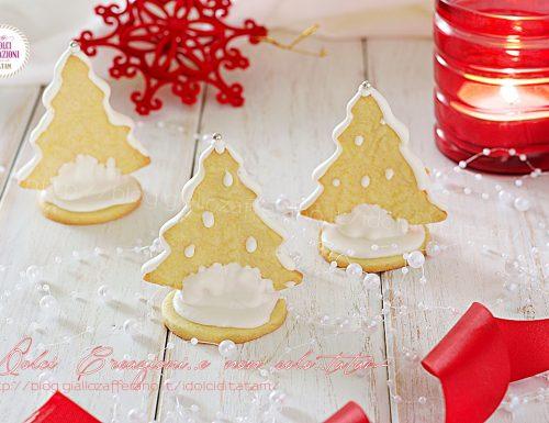 Alberelli di Natale segnaposto, biscotti natalizi decorati
