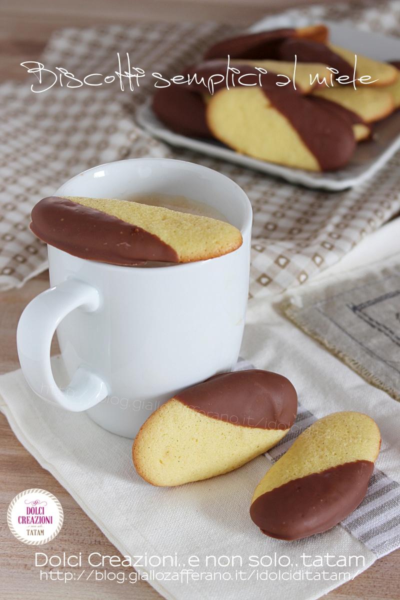 Biscotti semplici al miele